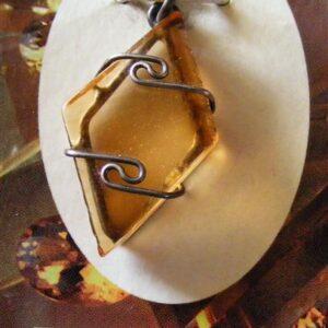 siberian gold quartz pendant