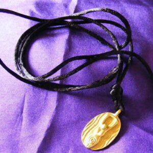 spiral goddess pendant