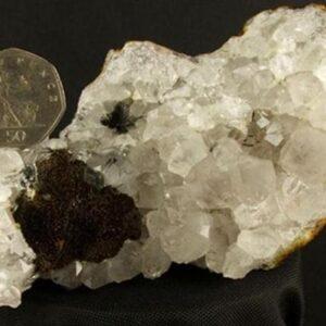 quartz with black tourmaline pillow